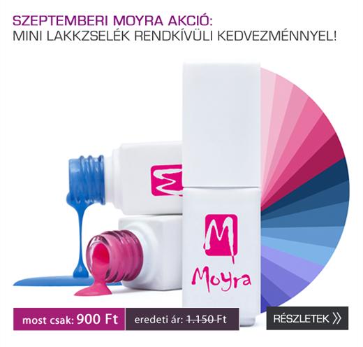 Akció: Moyra Mini lakkzselék rendkívüli kedvezménnyel!
