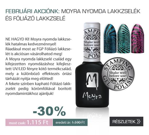 Moyra Nyomda lakkzselé és Foliázó lakkzsele Akció!