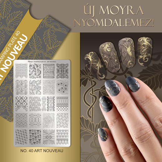 Moyra Nyomdalemez No. 40 Art Nouveau
