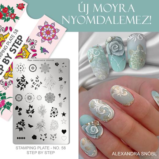 Új Moyra Nyomdalemez: No.58 Step by step!