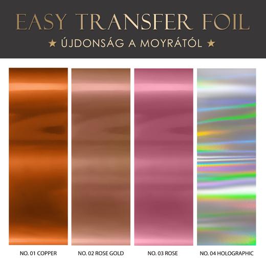 Négy új körömdíszítõ fólia érkezett! Easy transfer foil