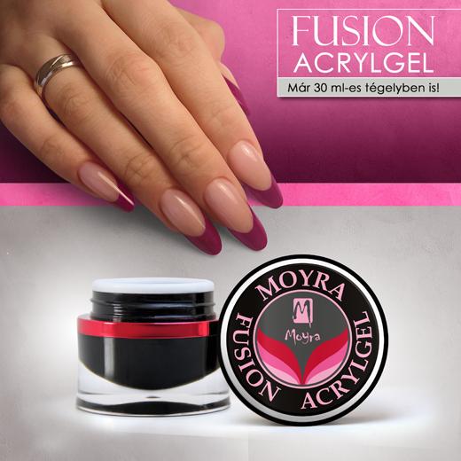 Moyra Fusion Acrylgel már 30 ml-es tégelyben is!
