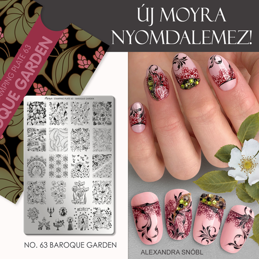Új Moyra Nyomdalemez: No.63 Baroque Garden!