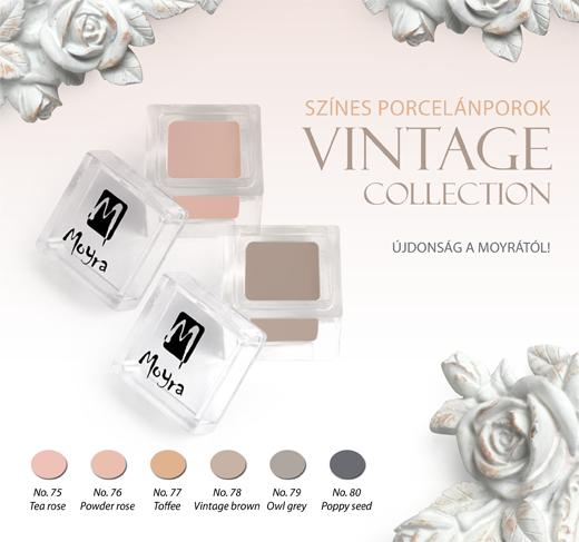 Moyra színes porcelánporok - Vintage collection!