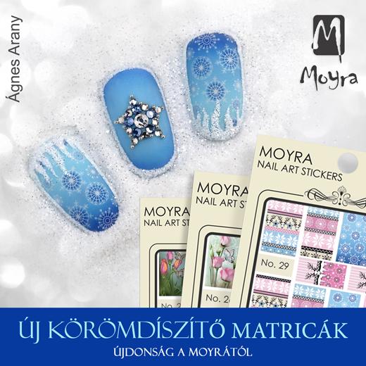 Új Moyra körömdíszítõ matricák!
