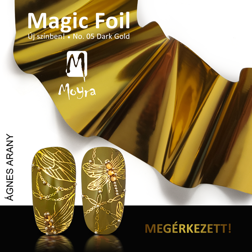 Moyra Magic foil körömfólia No. 05 Dark gold!