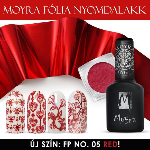 MOYRA FÓLIA NYOMDALAKK FP 05, Red