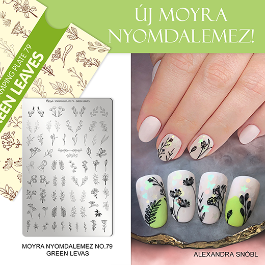 Új Moyra Nyomdalemez: No. 79 Green leaves!